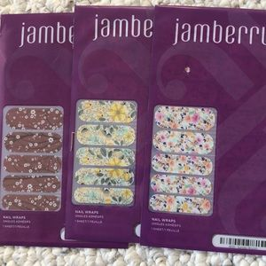 Floral Jamberry nail wraps